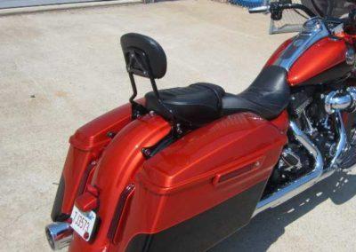 custom painted harley davidson motorcycle