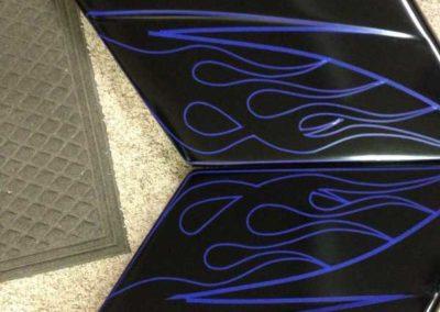 custom painted harley davidson motorcycle parts