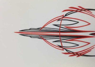 custom painted motorcycle pinstripes